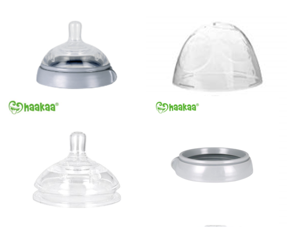 Haakaa Silicone Baby Bottle Nipple Attachment