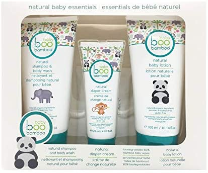 Baby Boo Bamboo Natural Baby Essentials 4pc Set