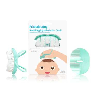 Fridababy Head Hugging Hair Brush+ Comb