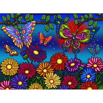 JaCaRou Puzzle - Flowers and Butterflies 300pc XXL