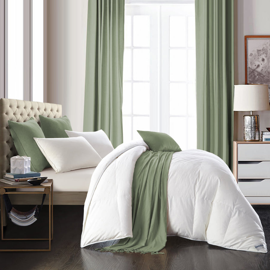 Privilege 4-Season 600+ Loft Euro White Goose Down Duvet