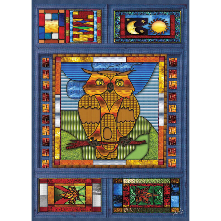 JaCaRou Puzzle - Stained Glass Owl 1000pc