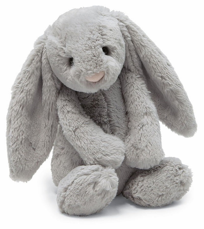 JellyCat Medium Bashful Grey Bunny 12