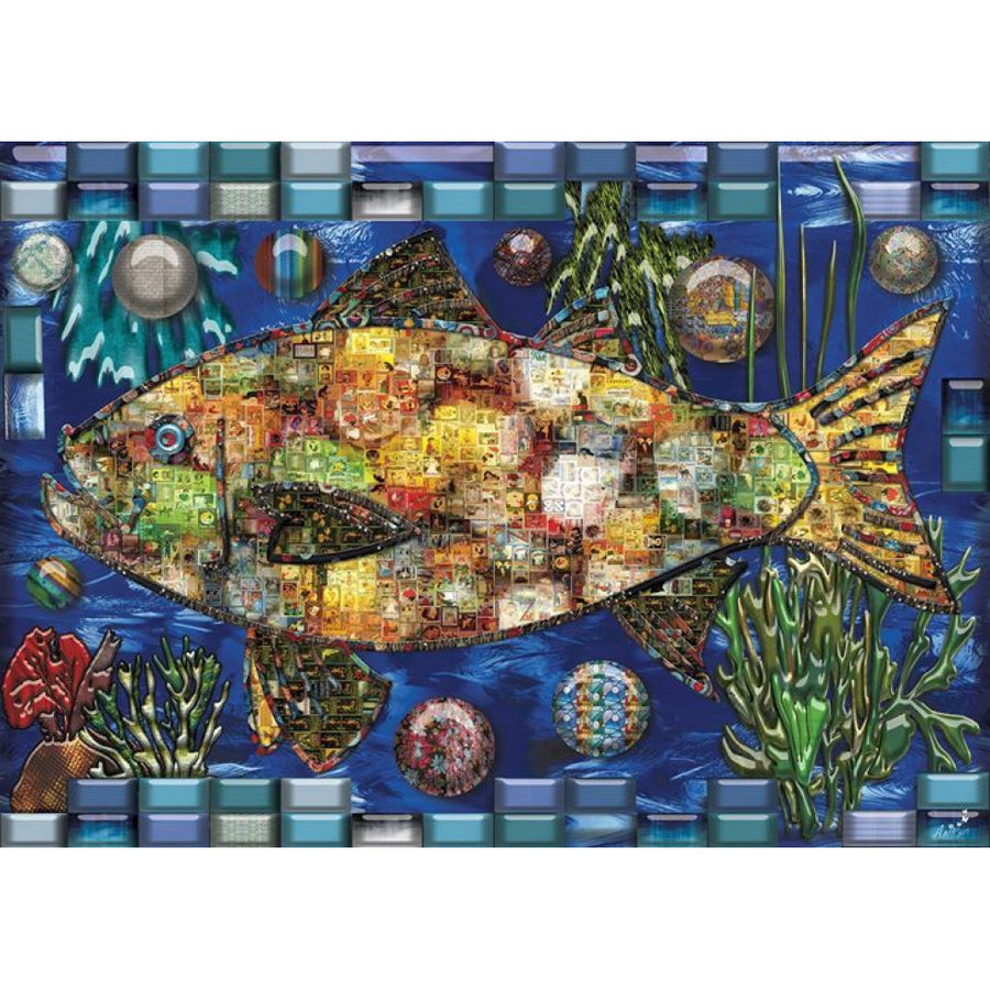 JaCaRou Puzzle - Mosaic Fish 1000pc