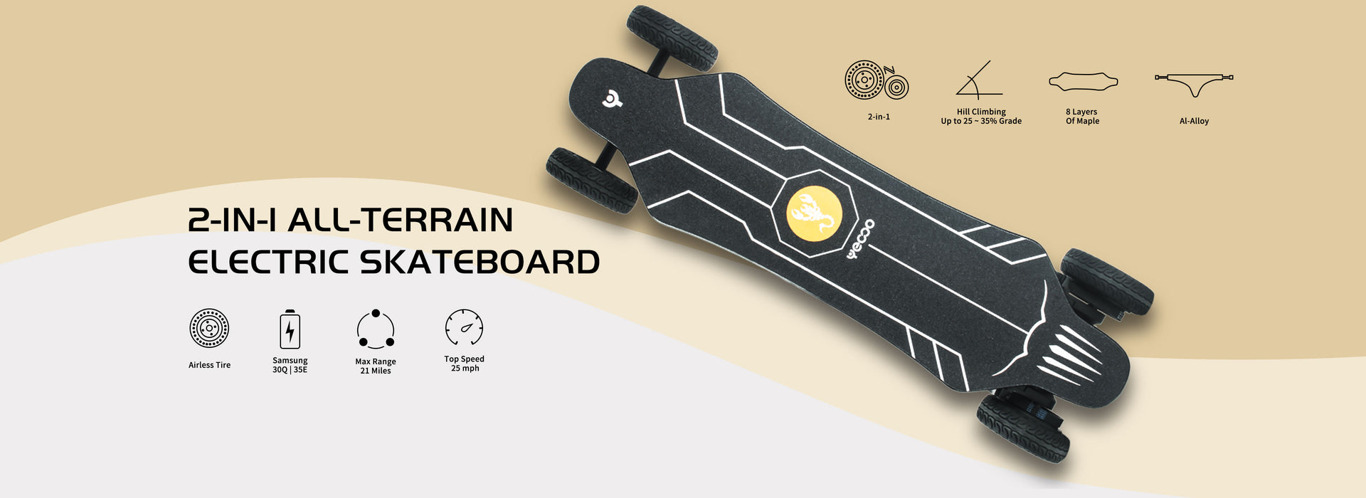 Yecoo GTS All-Terrain Electric Skateboard
