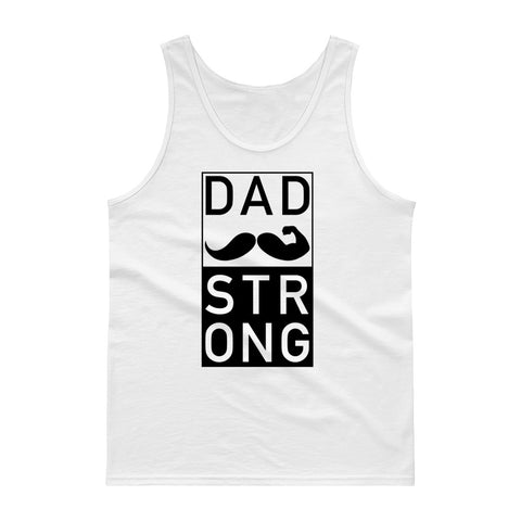 Dad Strong White Tank top