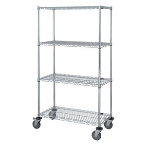 Temporary Bed image of wire shelving on caster with white background