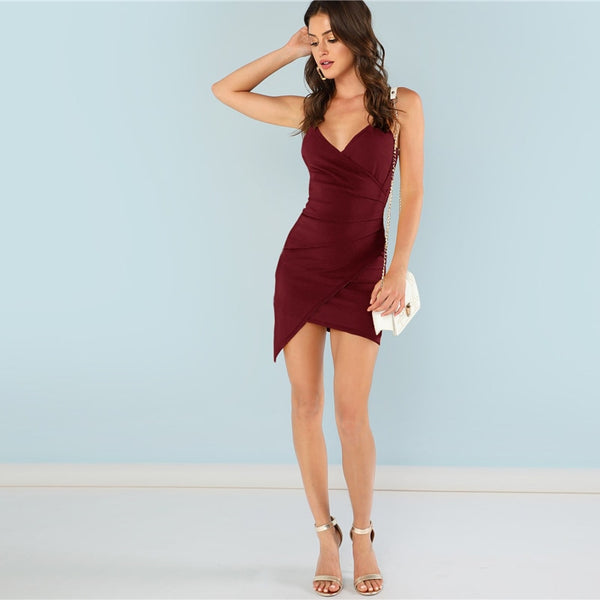 Burgundy Elegant Cami Dress