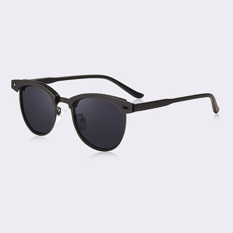 Metal Half-Fram Sunglasses