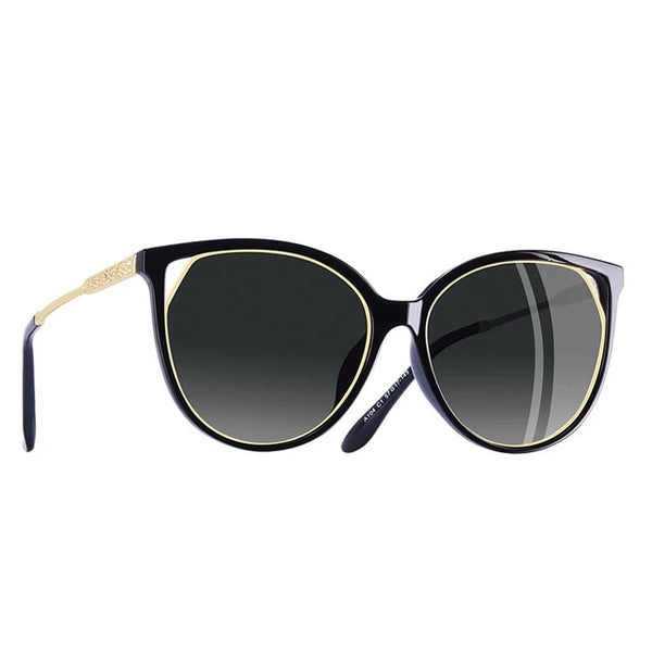 Cat Eye Temple Detail Sunglasses