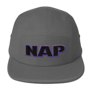 """NAP"" Embroidery. Five Panel Cap."