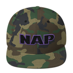 """NAP"" Embroidery. Snapback Hat."