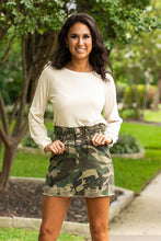 Load image into Gallery viewer, Denim Skirt- Camo