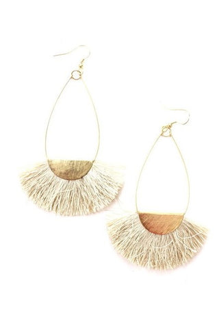 Earrings- Cream