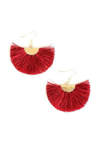 Earrings- Brick red