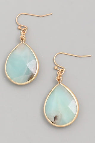 Earrings- Amazonite