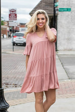 Load image into Gallery viewer, Baby Doll Dress- Dusty Pink