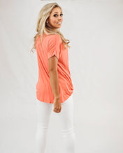 Load image into Gallery viewer, Rayon V Neck Top- Coral
