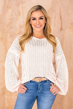 Load image into Gallery viewer, Oversized Sweater- Cream