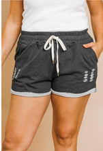Load image into Gallery viewer, Rolled Hem Shorts- Charcoal