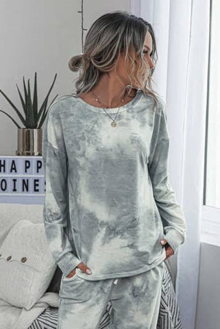 Tie Dye Long Sleeve- Grey
