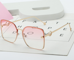 Rimless Square Sunglasses