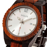 Men's Custom Engrave Ebony & Rose Wooden Watch - Personalize Your Watch - UnequelyUs