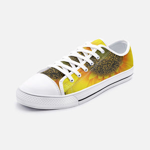 Lovely Sunflower Low Top Canvas Shoes - UnequelyUs