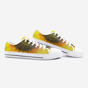 Lovely Sunflower Low Top Canvas Sneakers - UnequelyUs
