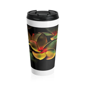 Flowers Stainless Steel Travel Mug - UnequelyUs