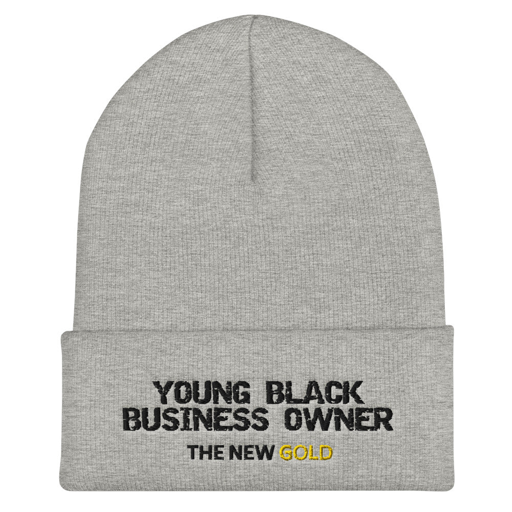 Young Black Business Owner Cuffed Beanie - UnequelyUs