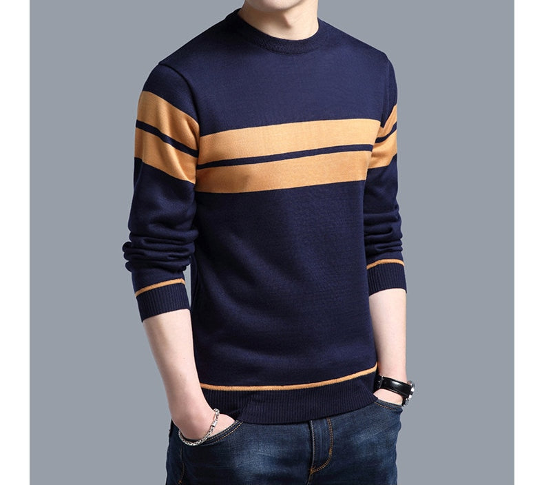 Cashmere Crewneck Mens Sweater - UnequelyUs