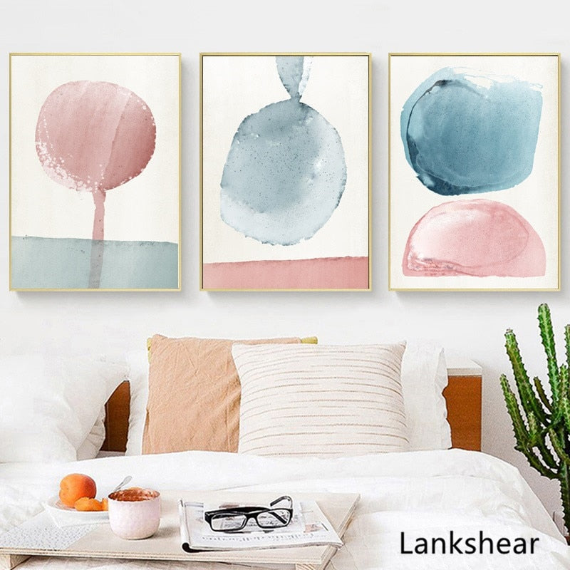Abstract Pastel Wall Art - UnequelyUs