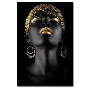 Unframed African Woman Canvas Painting - UnequelyUs