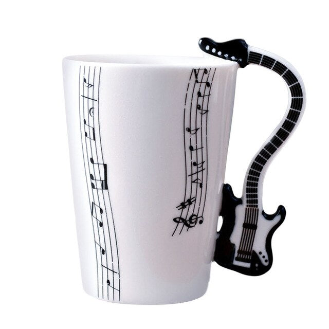 Ceramic Guitar Mug - UnequelyUs