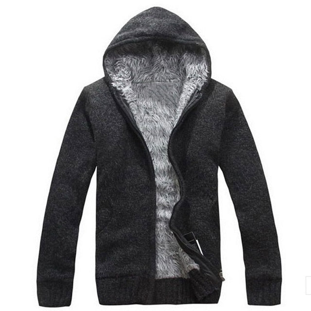 Men's Cardigan Hooded Sweater - UnequelyUs