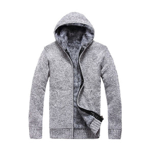 Men's Cardigan Hooded Sweater