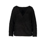Curvy Woman V-Neck Cross Wrap Knit Sweater - UnequelyUs