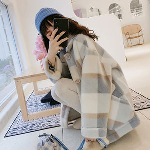 Women's Winter Plaid Jacket - UnequelyUs