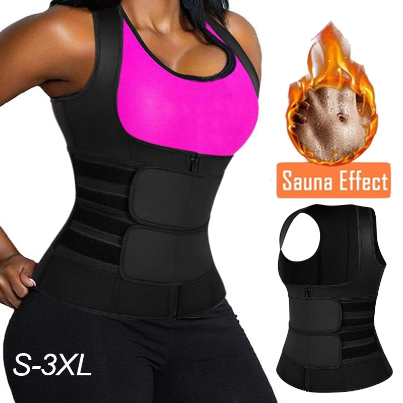 Womens Neoprene Sauna Vest Body Shaper - UnequelyUs