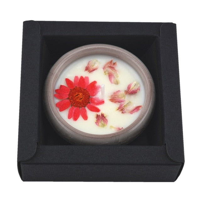 Aromatherapy Flower Scented Candle