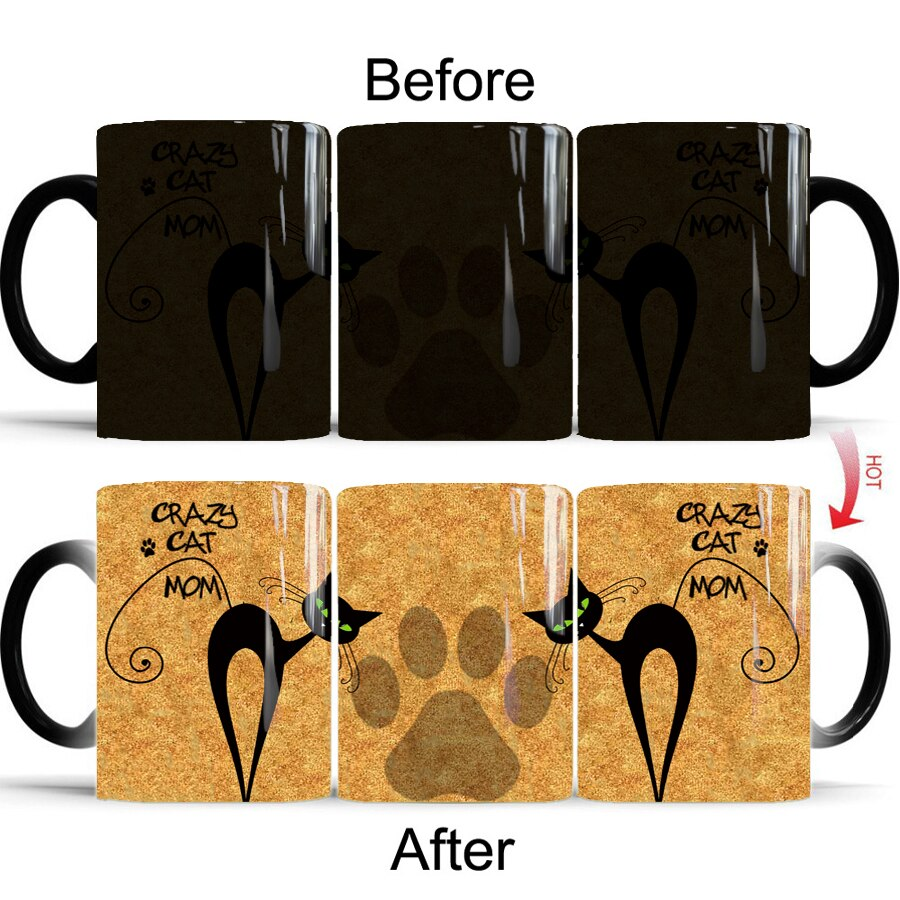 Heat Transforming Crazy Cat Mug - UnequelyUs