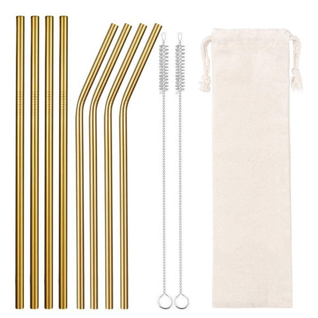 Eco-Friendly Colorful Reusable Drinking Straws