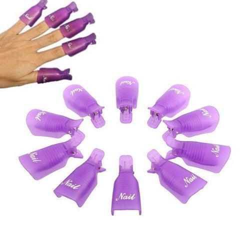 Gel Nail Polish Remover Clips (10 PCS)