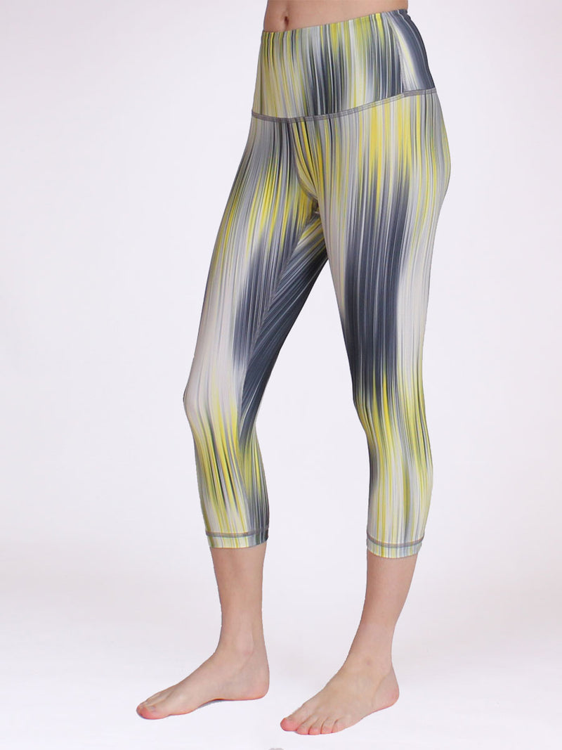 Float Crop Leggings Solar Waves