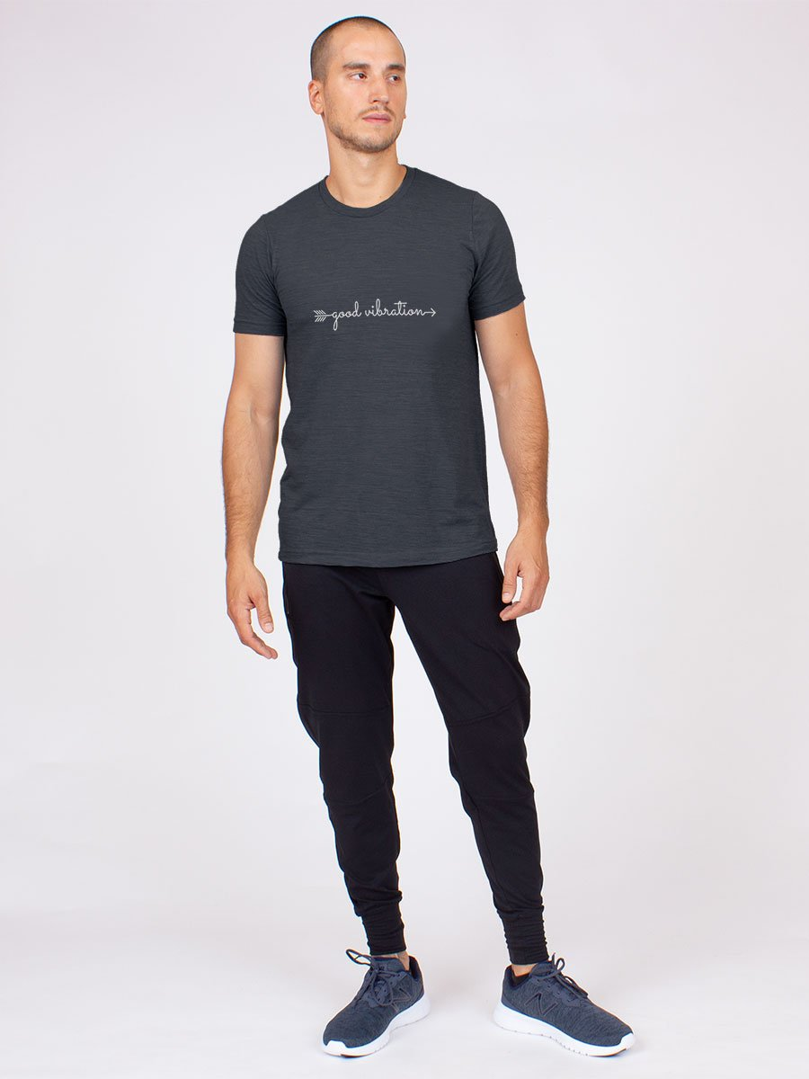 Good Vibration Tee in Cotton and Modal
