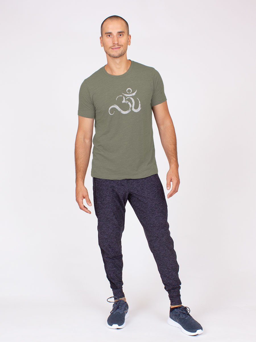 The Men's Ohm Yoga Tee in Olive