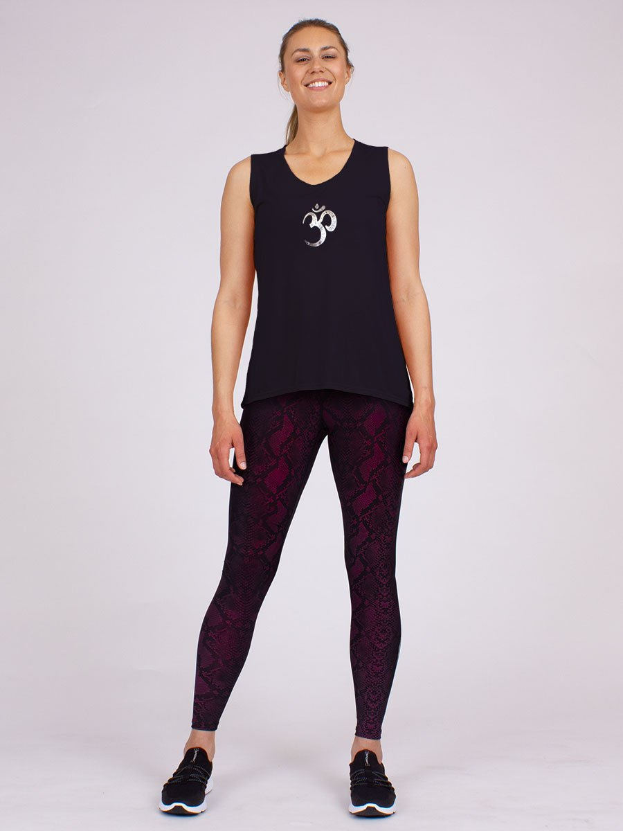 The Ohm Yoga Tank in Black
