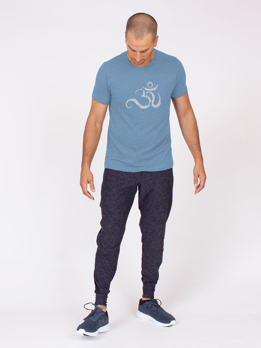 The Men's Ohm Tee in Washed Denim