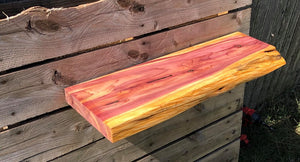 Live Edge Red Cedar Floating Shelf